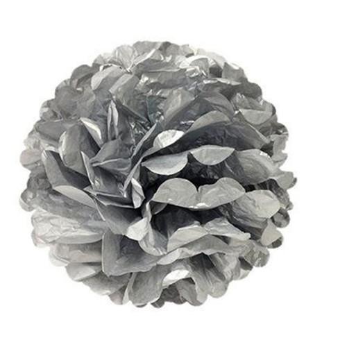 1 Adet Gümüş Silver Ponpon Gramafon Çiçek Doğum Günü Parti Süsü