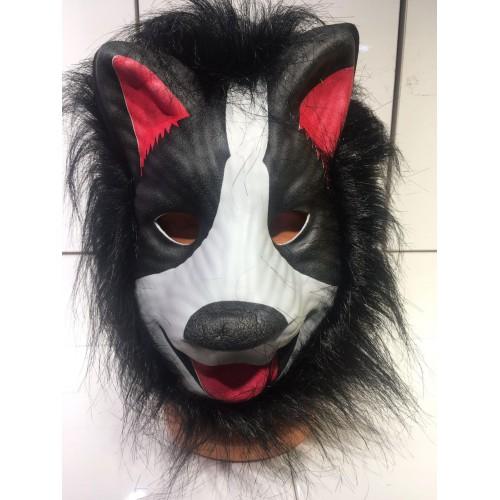 1 Adet Hayvan Desenli Maske, Tüylü Köpek Şeklinde Parti Maskeleri