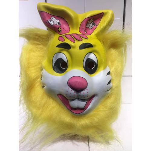 1 Adet Hayvan Desenli Maske, Tüylü Tavşan Şeklinde Parti Maskesi
