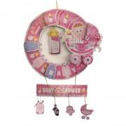 1 Adet Hoşgeldin Bebek Kapı Süs Pembe Kız Doğum Odası Baby Shower