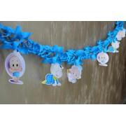 Kağıt Uzar Süs Bebek Figürlü Mavi Erkek Doğum Odası Baby Shower
