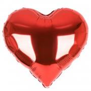 1 Adet Kalp Folyo Balonu Baskısız Kırmızı 45cm genişliğinde