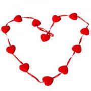 1 Adet Kalp Sarkıt Parti Süsü 120 cm