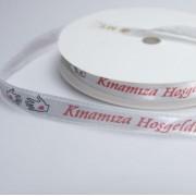 1 Adet Kınamıza Hoşgeldiniz yazılı Şerit Kurdele Kurdela 10 mm Kına Malzemeleri