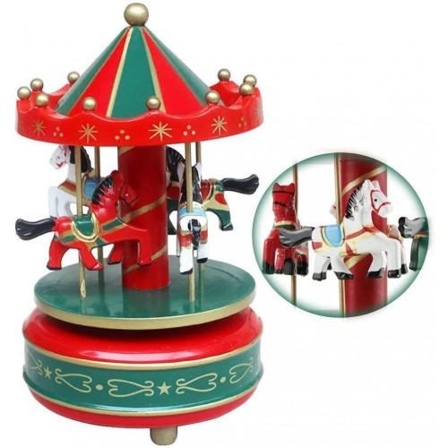 1 Adet Kırmızı Atlı Karınca Müzik Kutusu Hediyelik Eşya