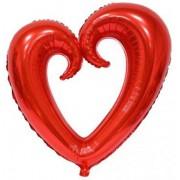 1 Adet Kırmızı Büyük Kalp Folyo Balon 75 cm Evlilik Teklifi vb.