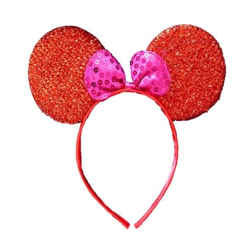 1 Adet Kırmızı Fiyonklu Minnie Mouse Taç, Doğum Günü Parti Tacı