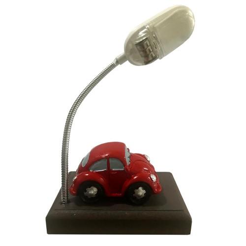 1 Adet Kırmızı, Işıklı, Arabalı Hediyelik Masa Lambası