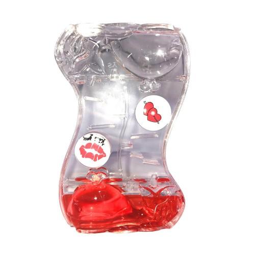 1 Adet Kırmızı Jel Sıvı Kum Saati, Arkadaşa Sevgiliye Hediyelik