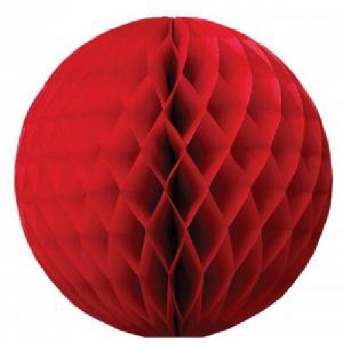 1 Adet Kırmızı Petek Pan Top, Asma Tavan Süsü, Parti Malzemesi