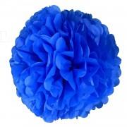 1 Adet Mavi Ponpon Gramafon Çiçek Kağıt Parti Süs