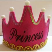 1 Adet Koyu Pembe Prenses ( Princess ) Tacı, Parti Malzemeleri