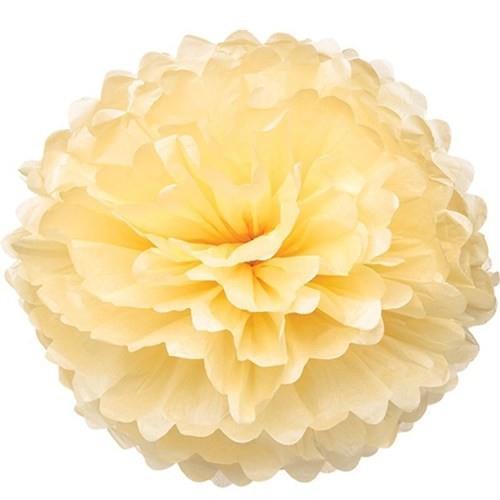 1 Adet Krem Ponpon Gramafon Çiçek Kağıt Doğum Günü Parti Süsü