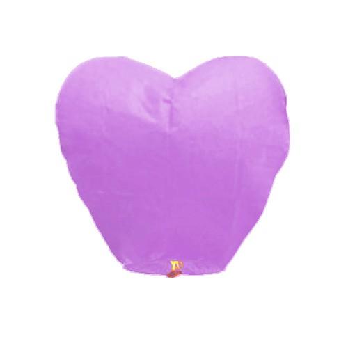 1 adet Lila-Mor Kalpli Büyük Uçan Dilek Çin Feneri Balonu