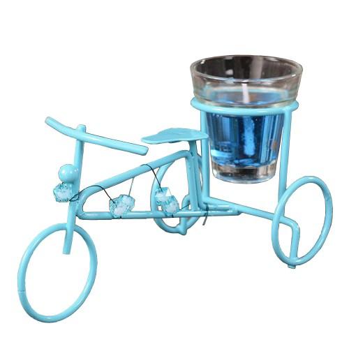 1 Adet Mavi Bisiklet Tasarımlı Dekoratif Mum Ev Dekorasyon