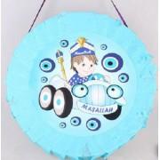 1 Adet Mavi Erkek Çocuk Sünnet Pinyata, Sopası Hediyeli
