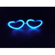 1 Adet Işıklı Parti Gözlüğü Kalp Şeklinde Renkli Neon Gözlük