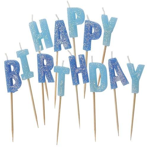 1 Adet Mavi Simli Happy Birthday Mum Doğum Günü
