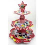 1 Adet Mickey Mouse Cupcake Stand 3 Katlı Doğum Günü Kek Standı