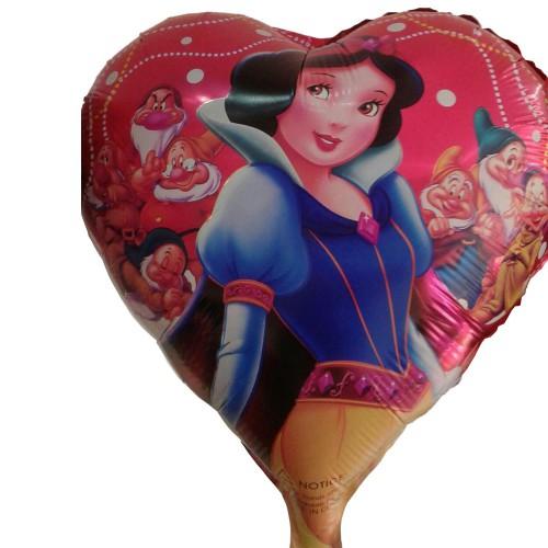 1 Adet Pamuk Prenses Folyo Şekilli Uçan Balon 50cm x 45cm