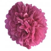 Fuşya Koyu Pembe Ponpon Gramafon Çiçek Kağıt Doğum Günü Parti Süs