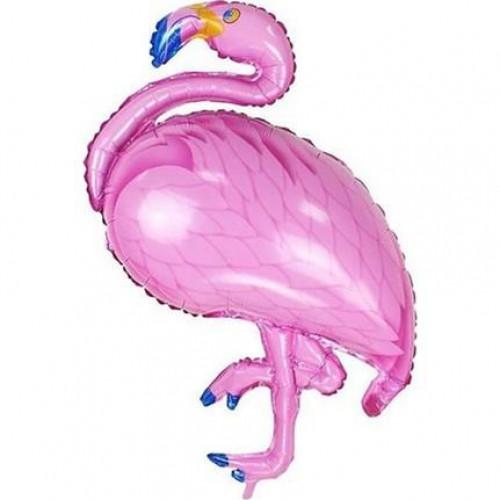 1 Adet Pembe Flamingo Folyo Balonu, 72 cm Büyük Helyumla Uçan