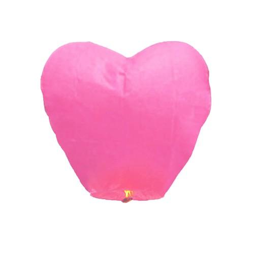 1 adet Pembe Kalpli Büyük Uçan Dilek Çin Feneri Balonu