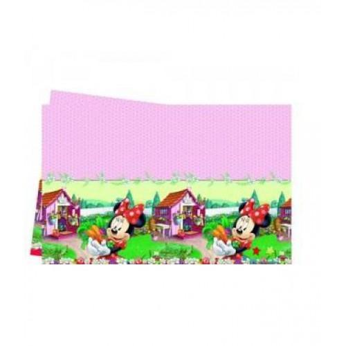 1 Adet Pembe  Minnie Mouse  Masa Örtüsü Doğum Günü Kız Parti Malzemesi