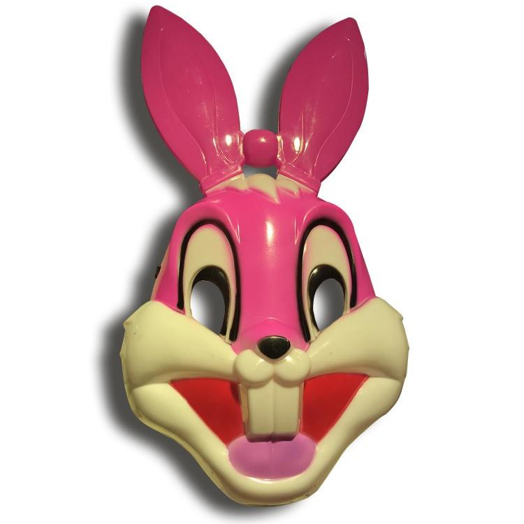 1 Adet Pembe Tavşan Yüz Maskesi Bugs Bunny Hayvan Maske