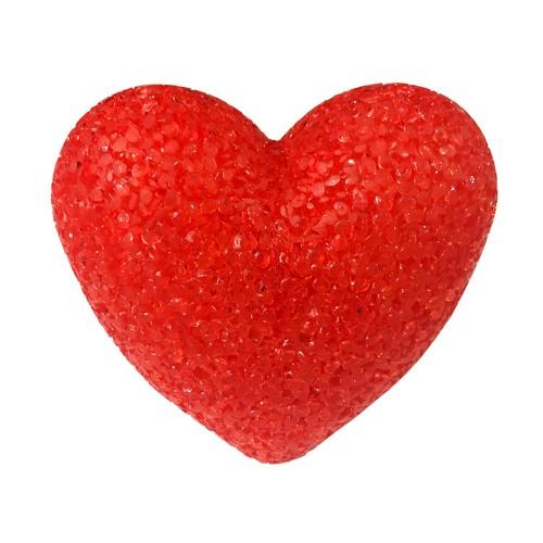 1 Adet Plastik Işıklı Kristal Görünümlü Ledli Kalp Mum