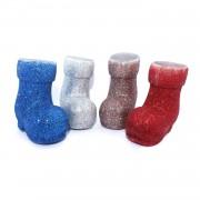 1 Adet Renkli 4lü Bot Ayakkabı Görünümlü Yılbaşı Ağacı Süsü