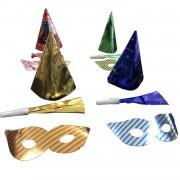 10 Adet Renkli Şapka, Gözlük ve Düdük Yılbaşı Parti Seti