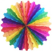 1 Adet Renkli Yelpaze Tavan Süsü 40cm