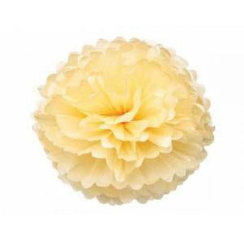 1 Adet Sarı Ponpon Gramafon Çiçek Kağıt Doğum Günü Parti Süsü