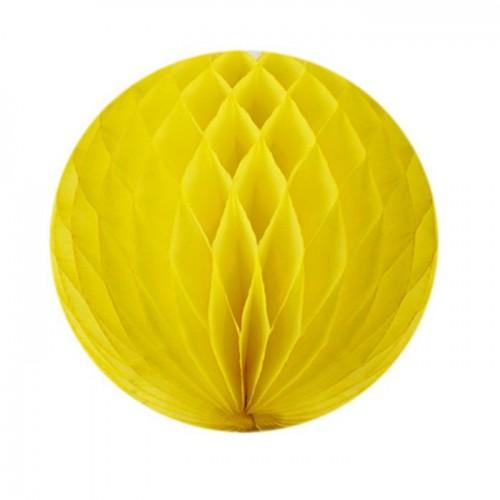 1 Adet Sarı Petek Pan Top, Asma Tavan Süsü, Parti Malzemesi