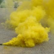 1 Adet Sarı Renkli Sis Bombası Dumanı Meşale 40sn