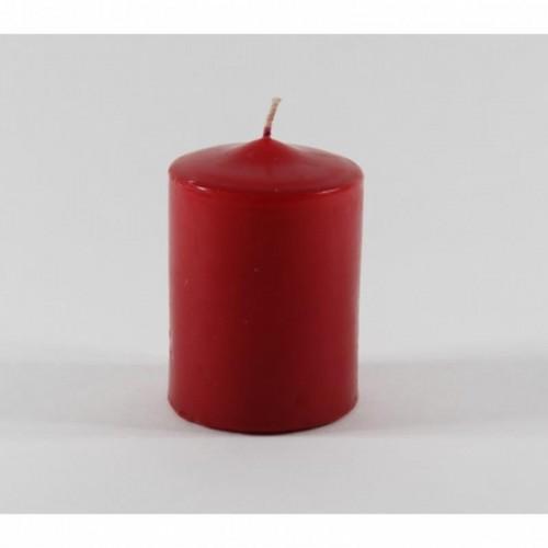 1 Adet Silindir Kırmızı Kütük Mum Kokulu Kalın Uzun Silindir