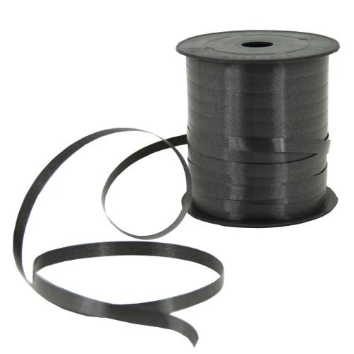 1 Adet Siyah Balon İpi Siyah Parlak Rafya 5mmx200m Süsleme Rabant