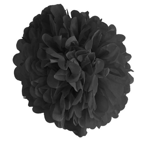1 Adet Siyah Ponpon Gramafon Çiçek Kağıt Doğum Günü Parti Süsü