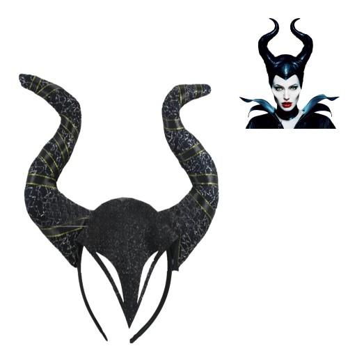 1 Adet Siyah Malefiz Boynuzlu Taç Maleficent Tacı