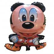1 Adet Siyah Mavi Mickey Mouse Folyo Şekilli Uçan Balon