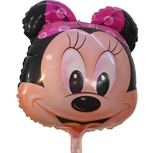 1 Adet Siyah Pembe Minnie Mouse Folyo Şekilli Uçan Balon