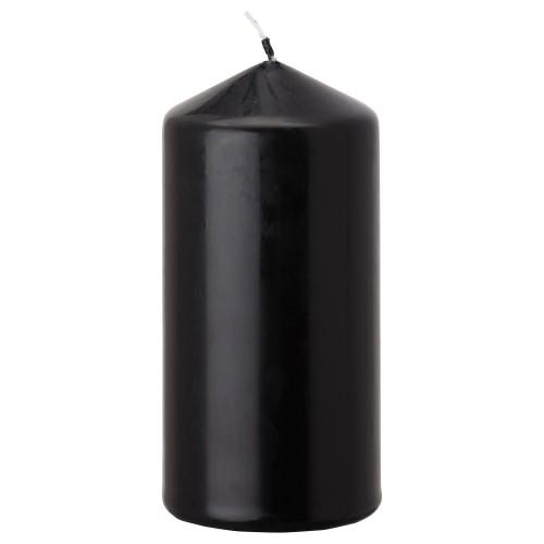 1 Adet Siyah Silindir Kütük Mum, Kalın 5x7.5 cm Takoz Mum