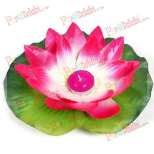 1 Adet Suda Yüzen Nilüfer Çiçeği, Yüzen Dilek Balonu, Feneri
