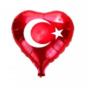1 Adet Türk Bayrağı Folyo Balon 45cm