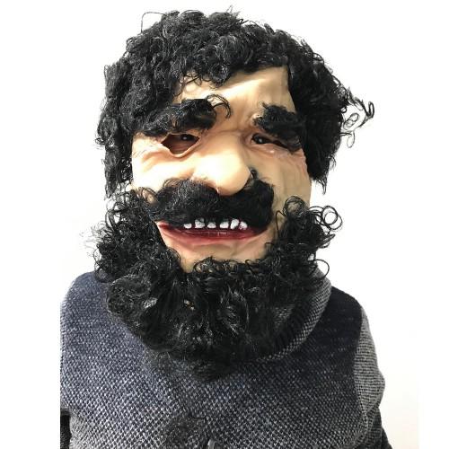 1 Adet Yaşlı Adam Yüz Maskesi, Kostüm Partisi Çirkin Korsan Maske
