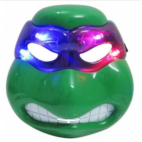 1 Adet Yeşil Kırmızı Işıklı Ninja Kaplumbağalar Maskesi Parti
