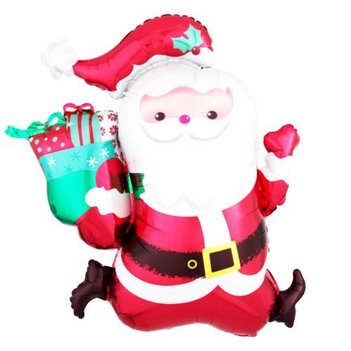 1 Adet Yılbaşı Noel Baba Helyumla Uçan Folyo Balon
