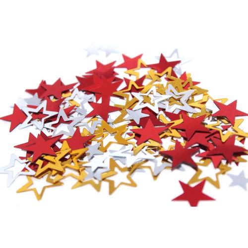 1 Paket Renkli Yıldız Şekilli Masa Süsü Konfeti Pulu