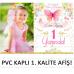 1 Yaş Kız Bebek Doğum Günü Süsleme Seti Kelebek Temalı Set